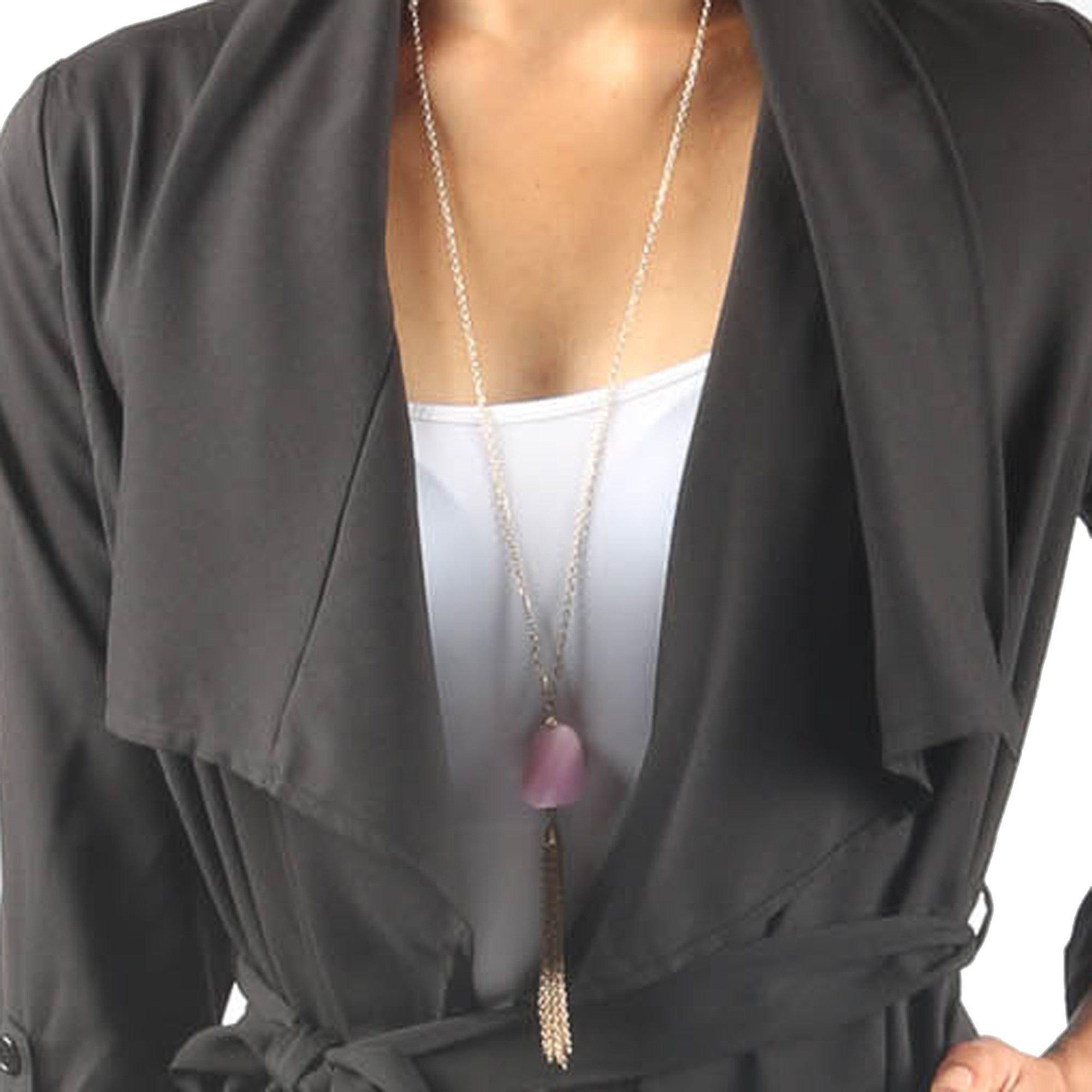 Open Front Asymmetrical Cardigan