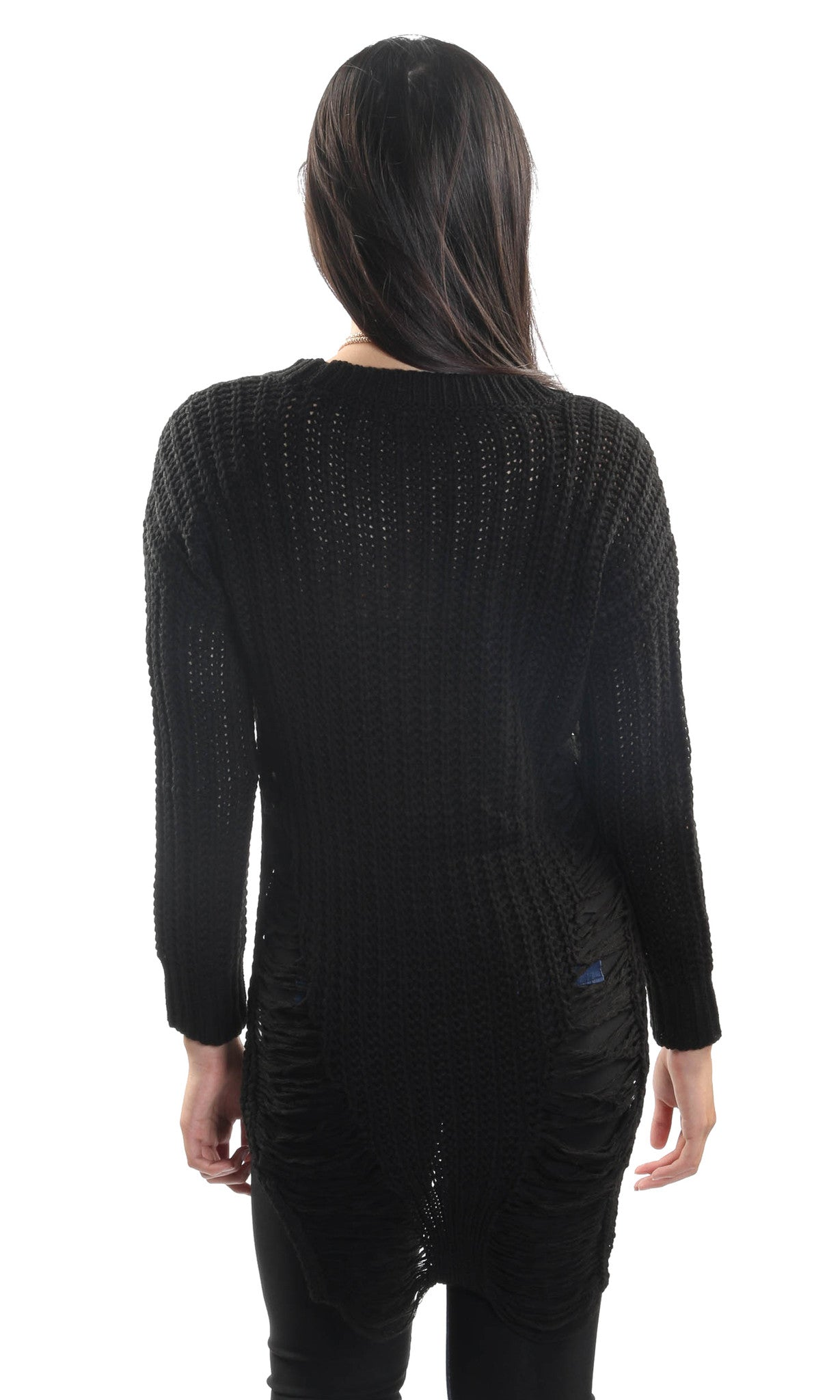 Fashion Knitted Woven Sweater