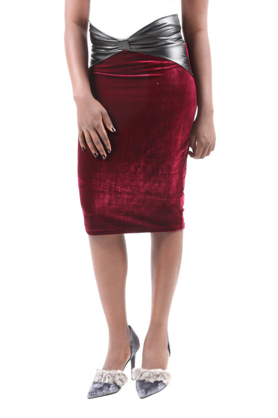 Midi Tube Pencil Skirt