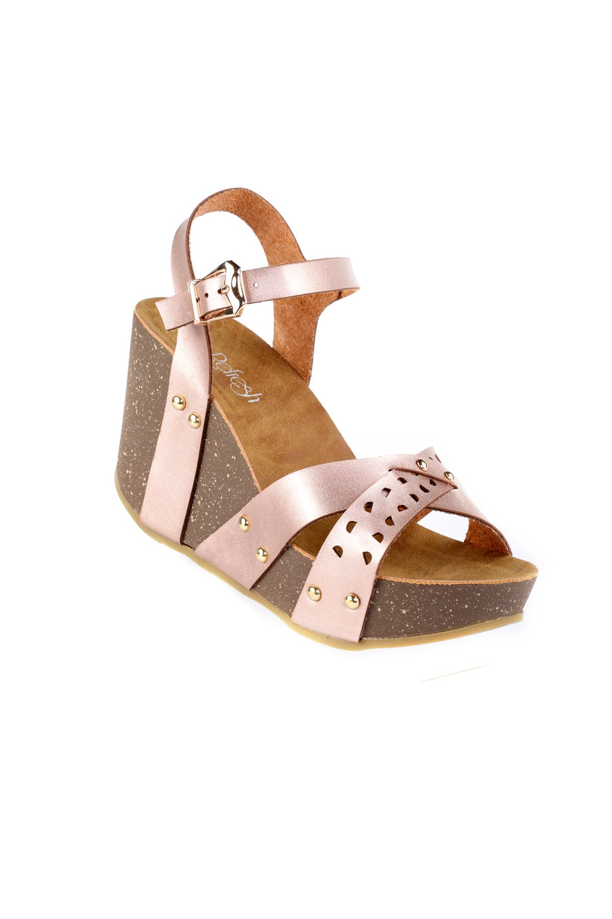 Ankle Strap Chunky Wedge Sandal