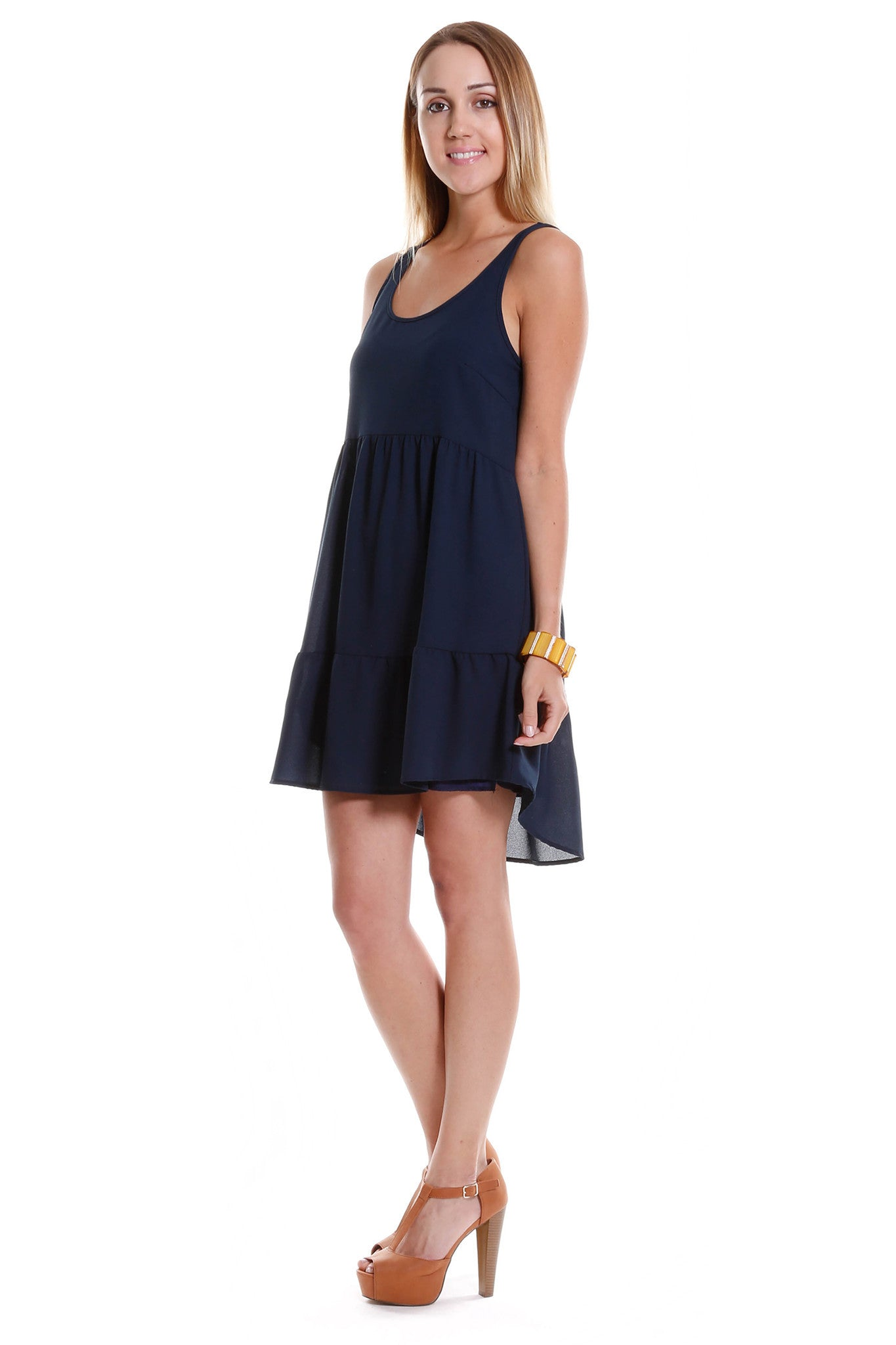 Sleeveless Swing Dress