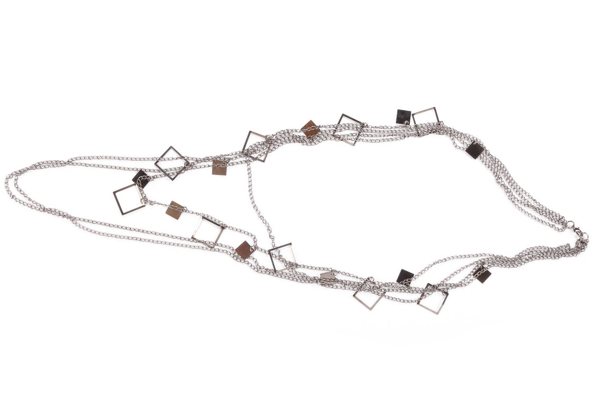 Geometric Layered Fashion Necklace