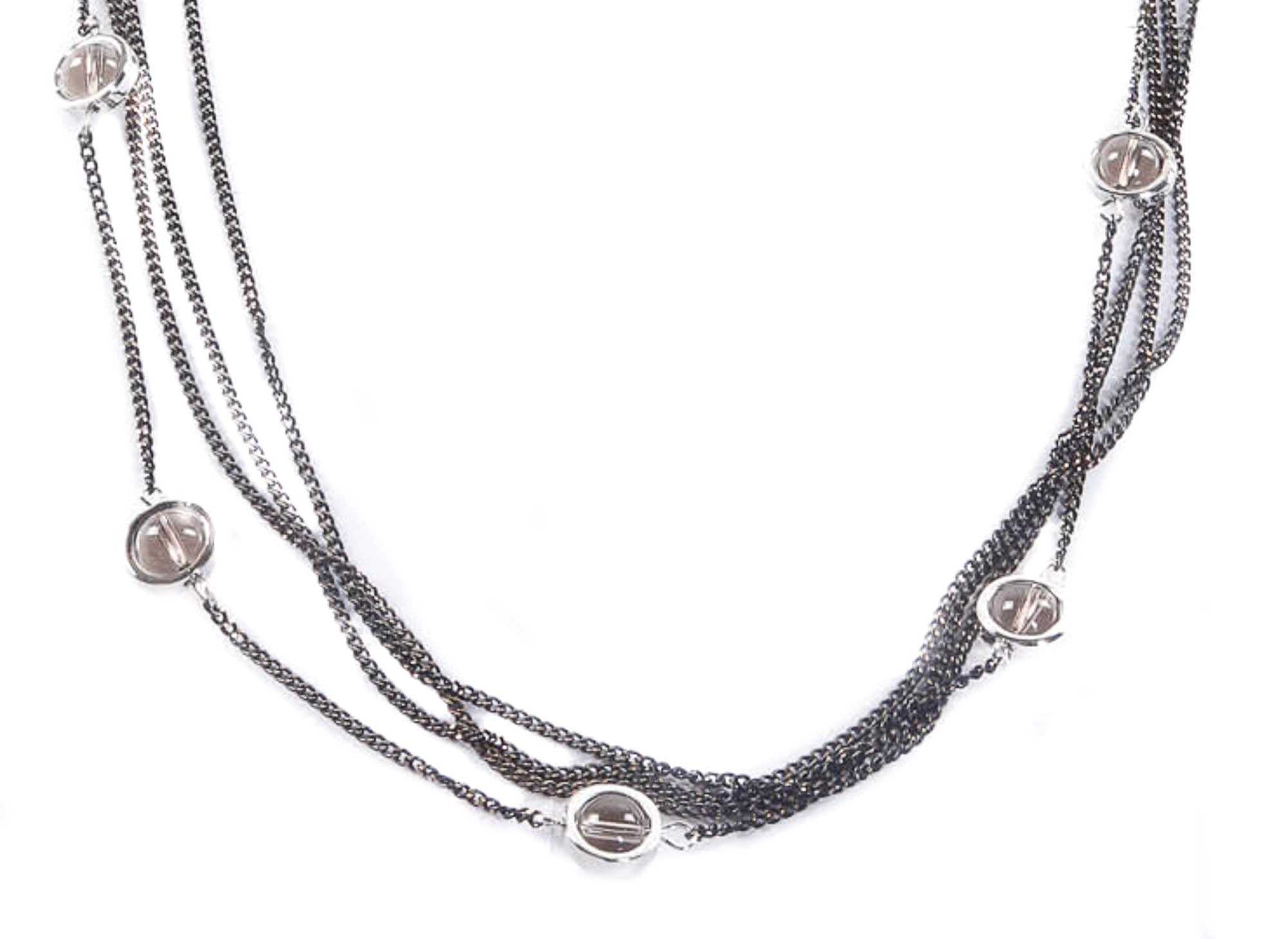 Pewter Bubble Fashion Necklace