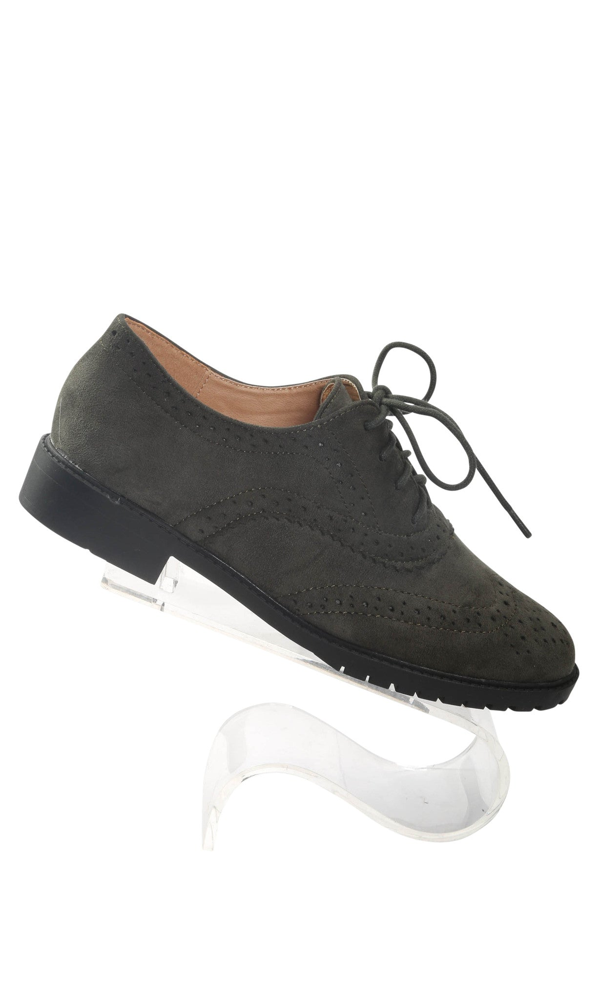 Oxford Suede Flat Shoes