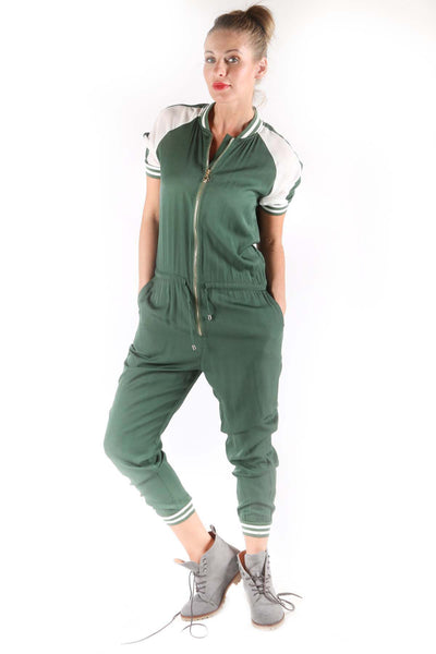 Women's Color Contrast Jumpsuit