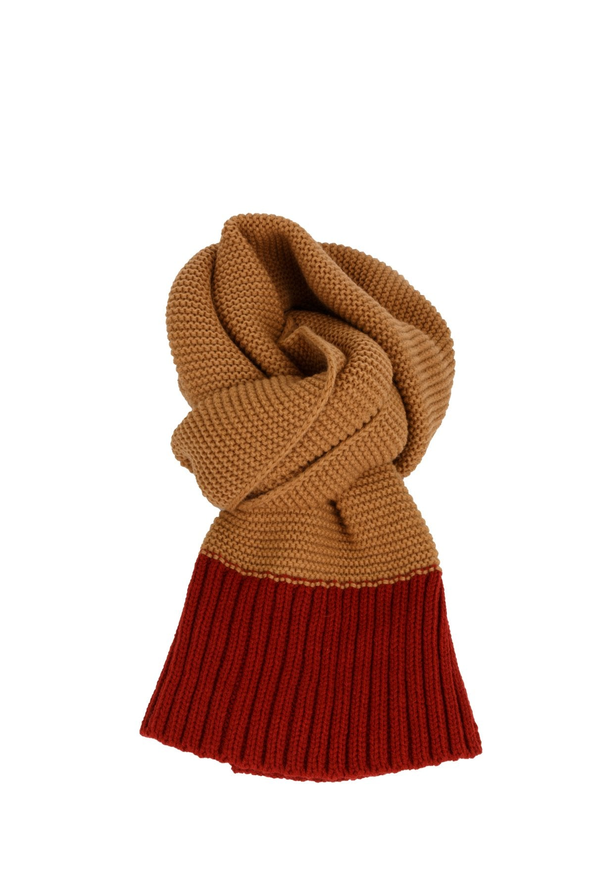 Contrast Knitted Scarf
