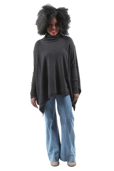 Holly Cape Batwing Turtleneck Sweater