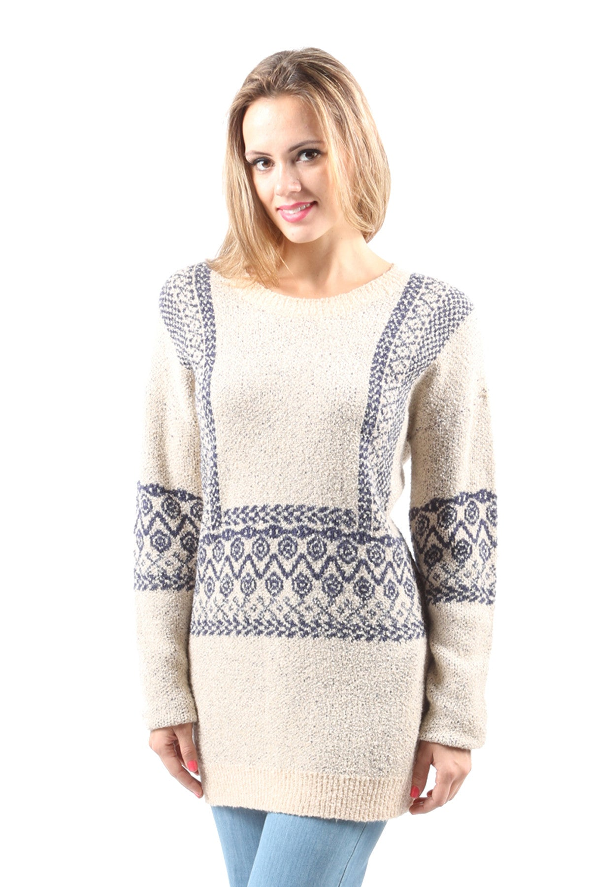 Knitted Chevron Sweater