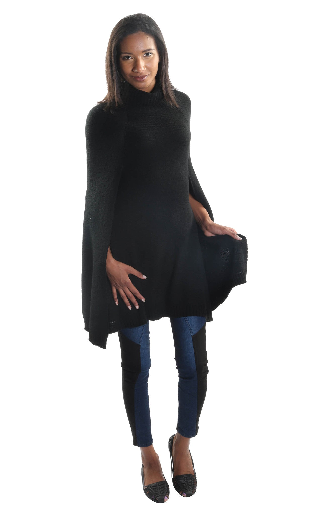 Bat Cape Knitted Cardigan