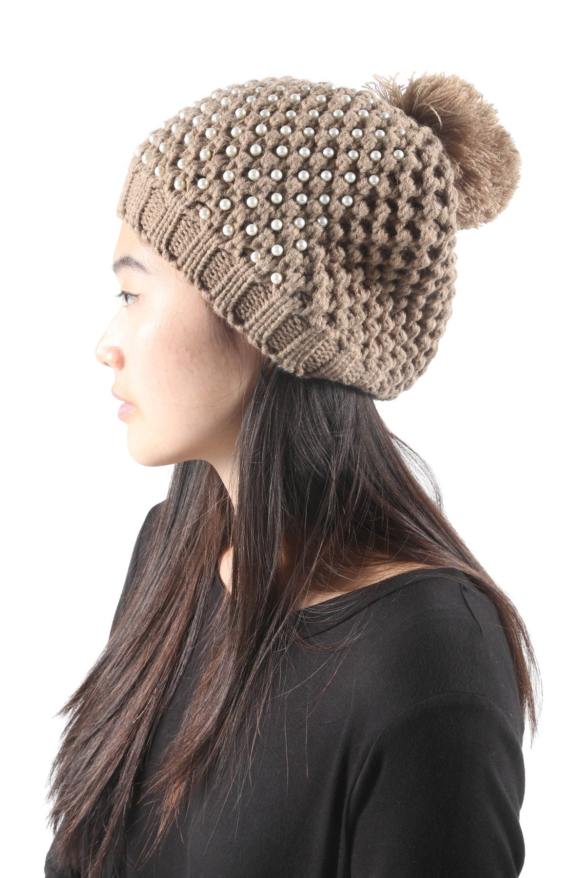 Winter Pom Knit Beanie