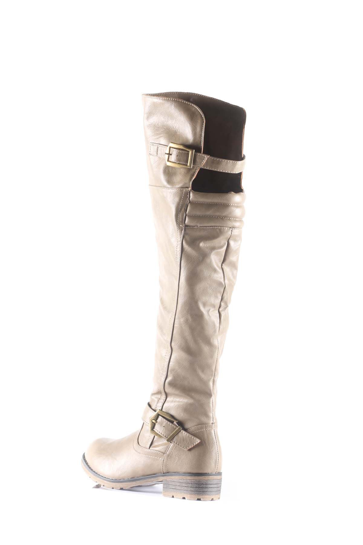 Luggo Knee High Buckle Strap Boots