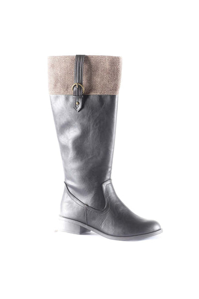 Visa Faux Leather Knee High Boots
