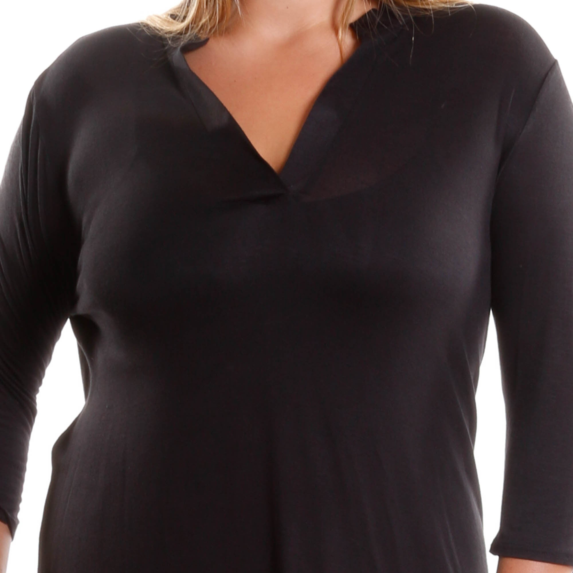Plus Size Asymmetrical Hem Fashion Top