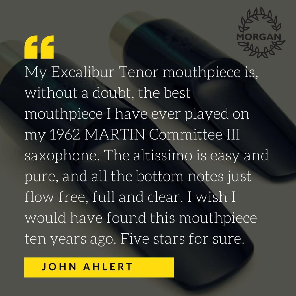 Morgan Excalibur Tenor Saxophone Mouthpiece review John Ahlert