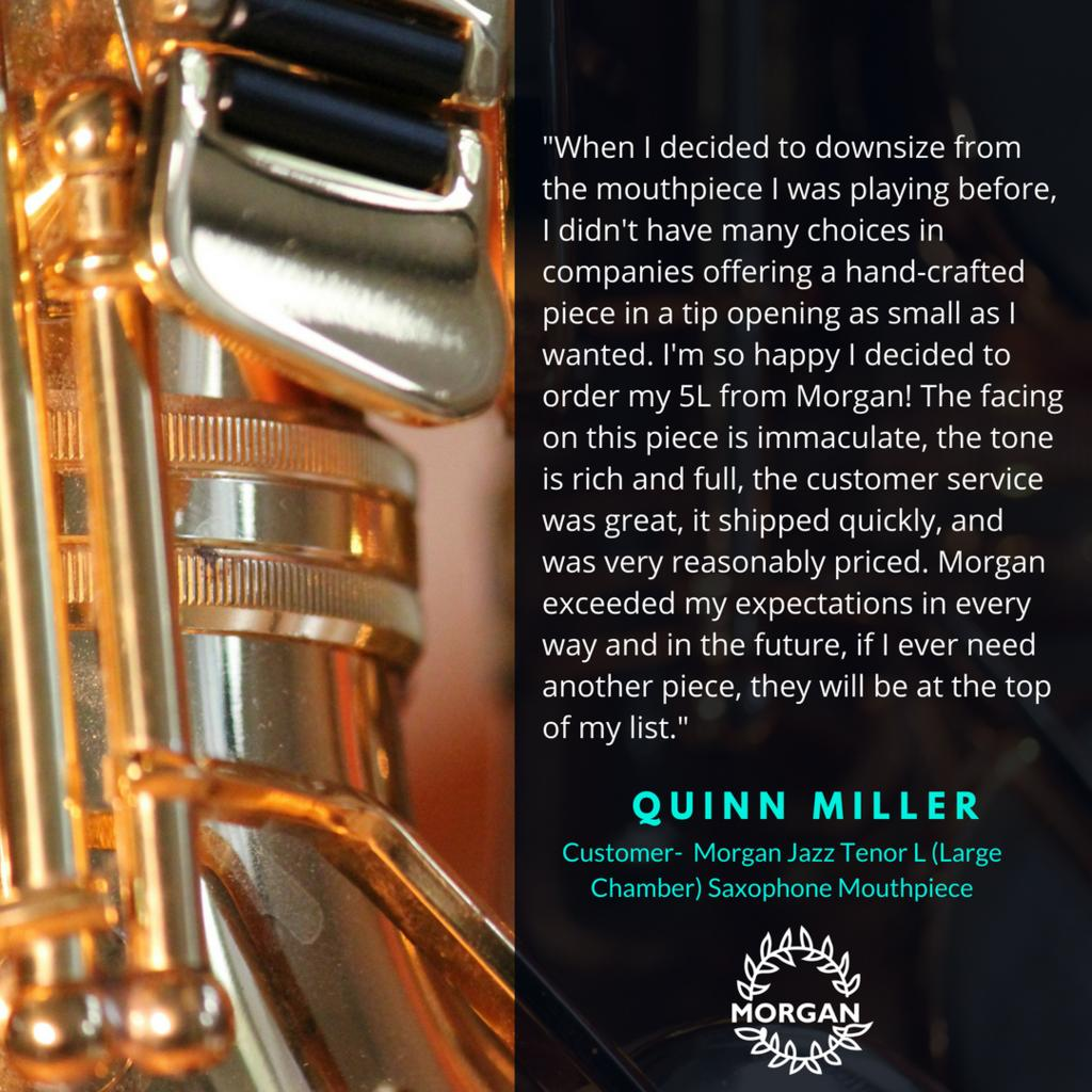 Morgan Jazz Tenor Large Chamber Saxophone Mouthpiece review Quinn Miller