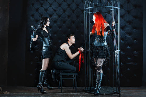 Sub being punished by his madams.