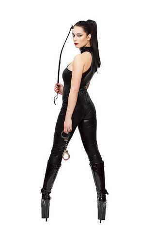 A dominatrix with her riding crop.