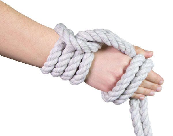 Rope and chain bondage happens. Let's
