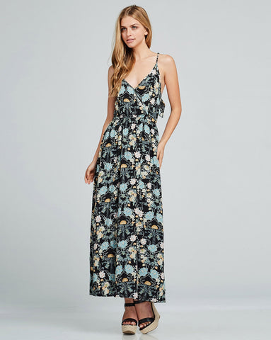 Backless Floral Maxi