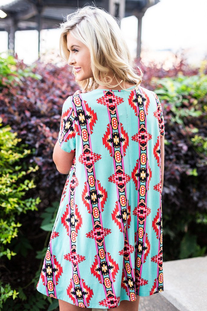 Tribal T-Shirt Dress