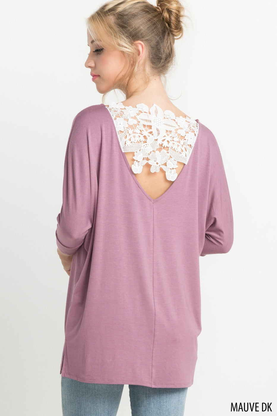 Lace Back Pink Top