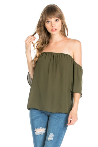 Off-the-Shoulder Olive