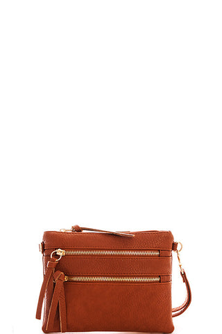 Pocket Crossbody Bag - Carmel