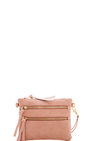 Pocket Crossbody Bag - Pink