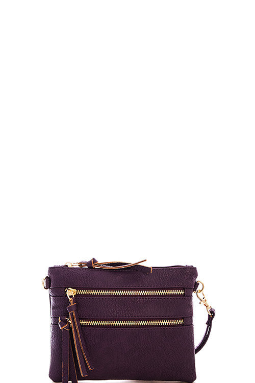 Pocket Crossbody Bag - Purple
