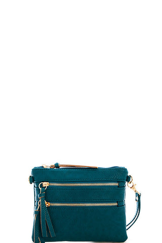 Pocket Crossbody Bag - Teal