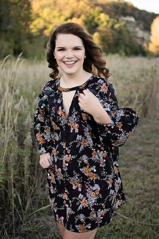 Fall Floral Tunic Dress