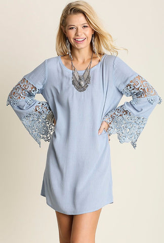 Lace Bell Sleeved Dress