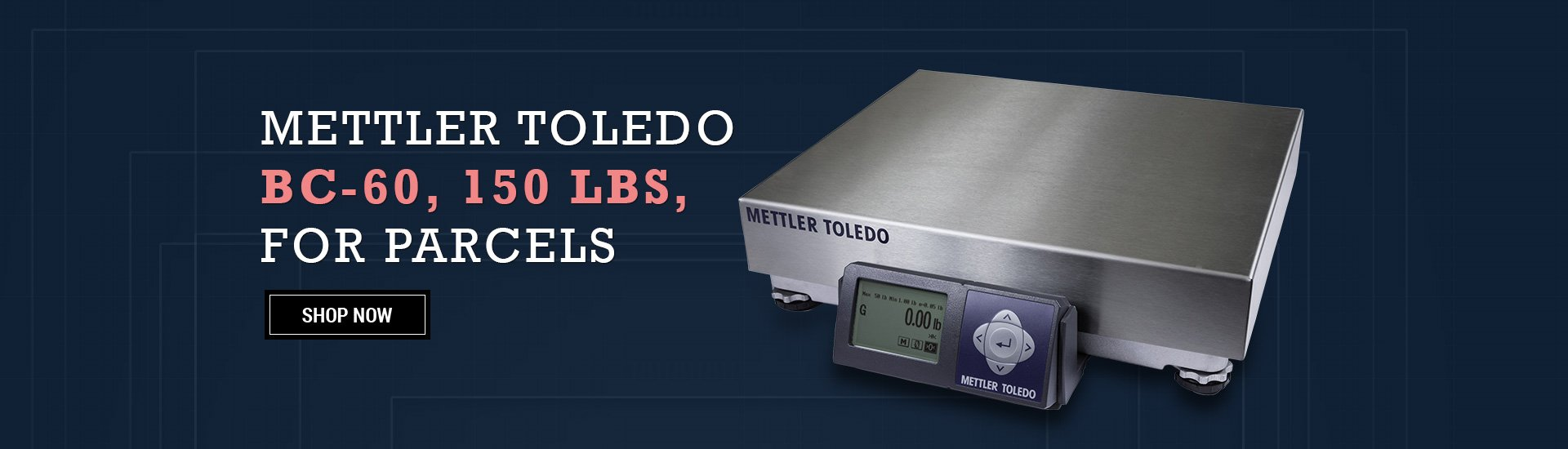Mettler Toledo BC-6L , 150 lbs, for letters and parcels