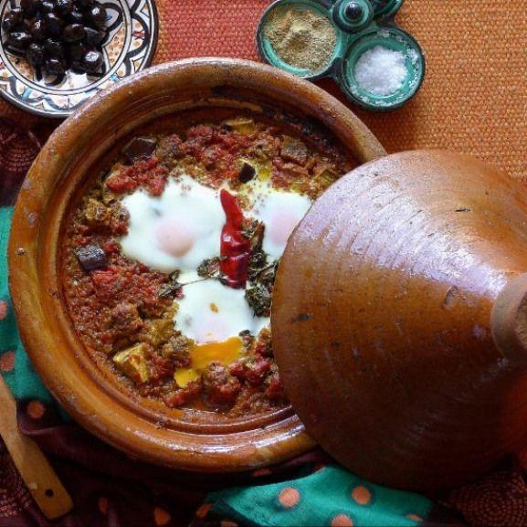 Tagine with meatballs and eggs (Tagine Mkaouara). - Mira's Hand
