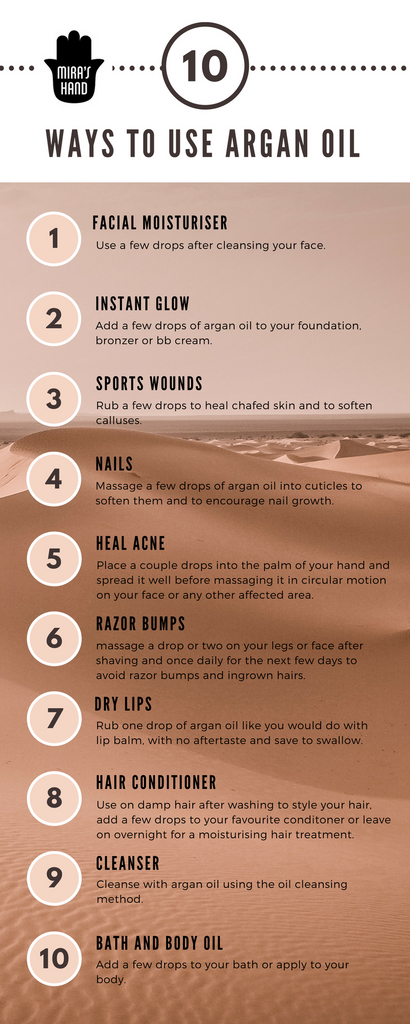 10 ways to use argan oil