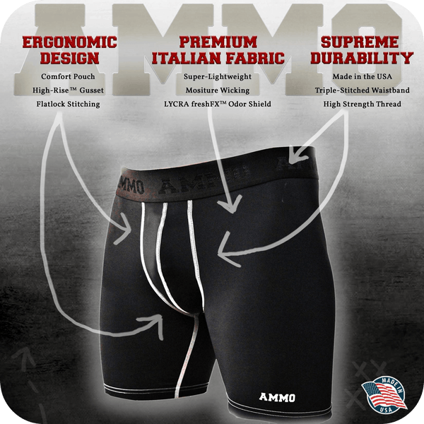 AMMO Athletic Base Layer Short Product Highlights