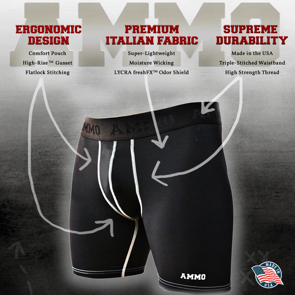 AMMO Loaded™ Base Layer Short II 3-Pack - AMMO Athletic - 3
