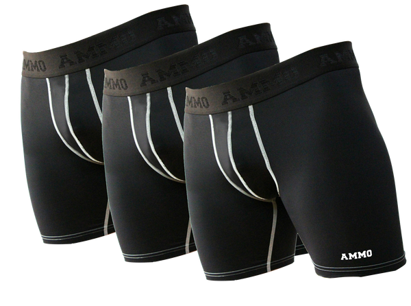 AMMO Loaded™ Base Layer Short II 3-Pack - AMMO Athletic - 1
