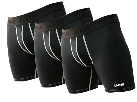 The Original AMMO Loaded™ Base Layer Short 3-Pack - AMMO Athletic - 1
