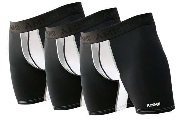 The Original AMMO Loaded™ Base Layer Short 3-Pack - AMMO Athletic - 3
