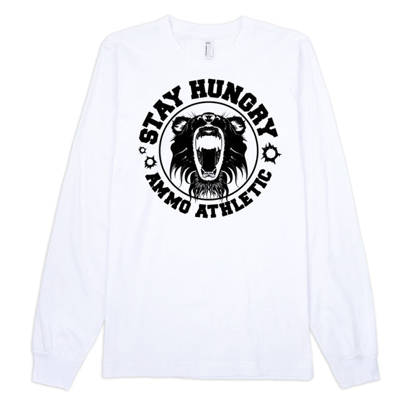 Unisex Long-Sleeve Stay Hungry T-Shirt - AMMO Athletic - 7