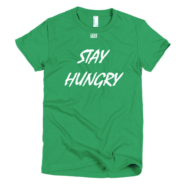 Women's Stay Hungry Lettered T-Shirt - AMMO Athletic - 5