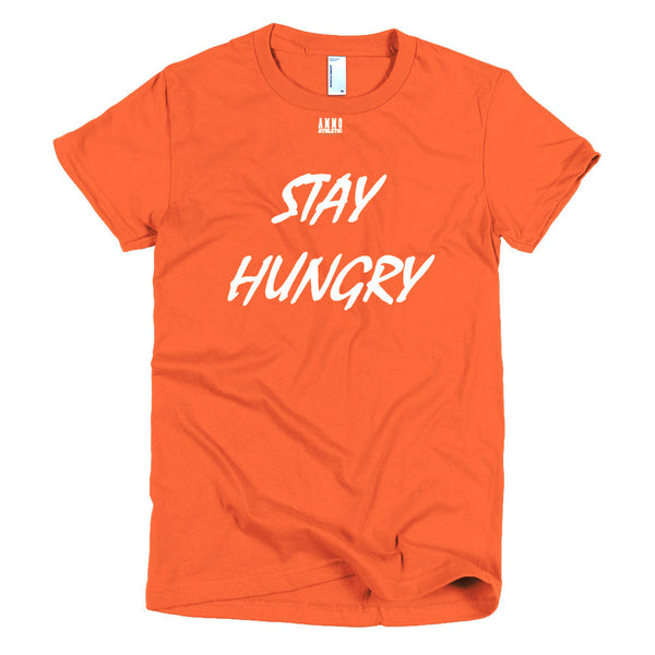 Women's Stay Hungry Lettered T-Shirt - AMMO Athletic - 8