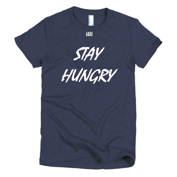 Women's Stay Hungry Lettered T-Shirt - AMMO Athletic - 4