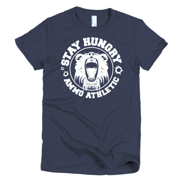 Women's Stay Hungry Roar T-Shirt - AMMO Athletic - 5