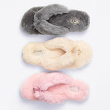 UGG Women Winter Keep Warm Wool Bow Slipper Shoes