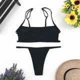 Sext Thong Bikini Set Women Swimwear Push Up Padded Beachwear Biquini Swimsuit Women Bathing Suit