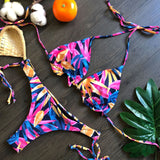 Sexy Bikini Set Women Print Swimwear Bathing Suit Push Up Bandage Beachwear Biquini Swimsuit