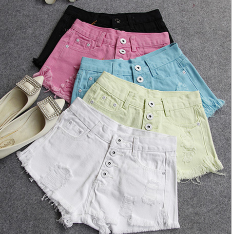 Ripped Tassel High Waist Fashion Shorts