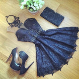 stitching lace sleeveless dress